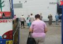 """Trolejbuss iebrauc veikala """"MAXIMA"""" sienā (VIDEO)"""