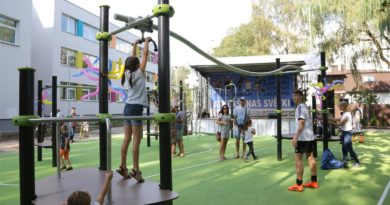 Svinīgi atklāts sporta un aktīvās atpūtas laukums Imantas apkaimē