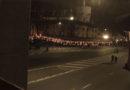 Svecīšu iedegšana pie Rīgas pils mūriem Latvijas simtgades Lāčplēša dienā