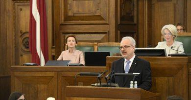 Valsts prezidenta Egila Levita runa Saeimā, amatā stājoties