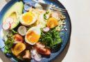 Bulgura salāti ar ceptu sieru un 3 minūšu olu