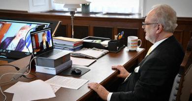 Baltijas valstu prezidenti pārrunā vīrusa Covid-19 ierobežošanu un ekonomikas stabilizēšanu