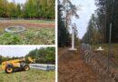 Notiek aktīvs darbs pie pagaidu žoga izbūves, darbus pabeigs šī gada novembrī